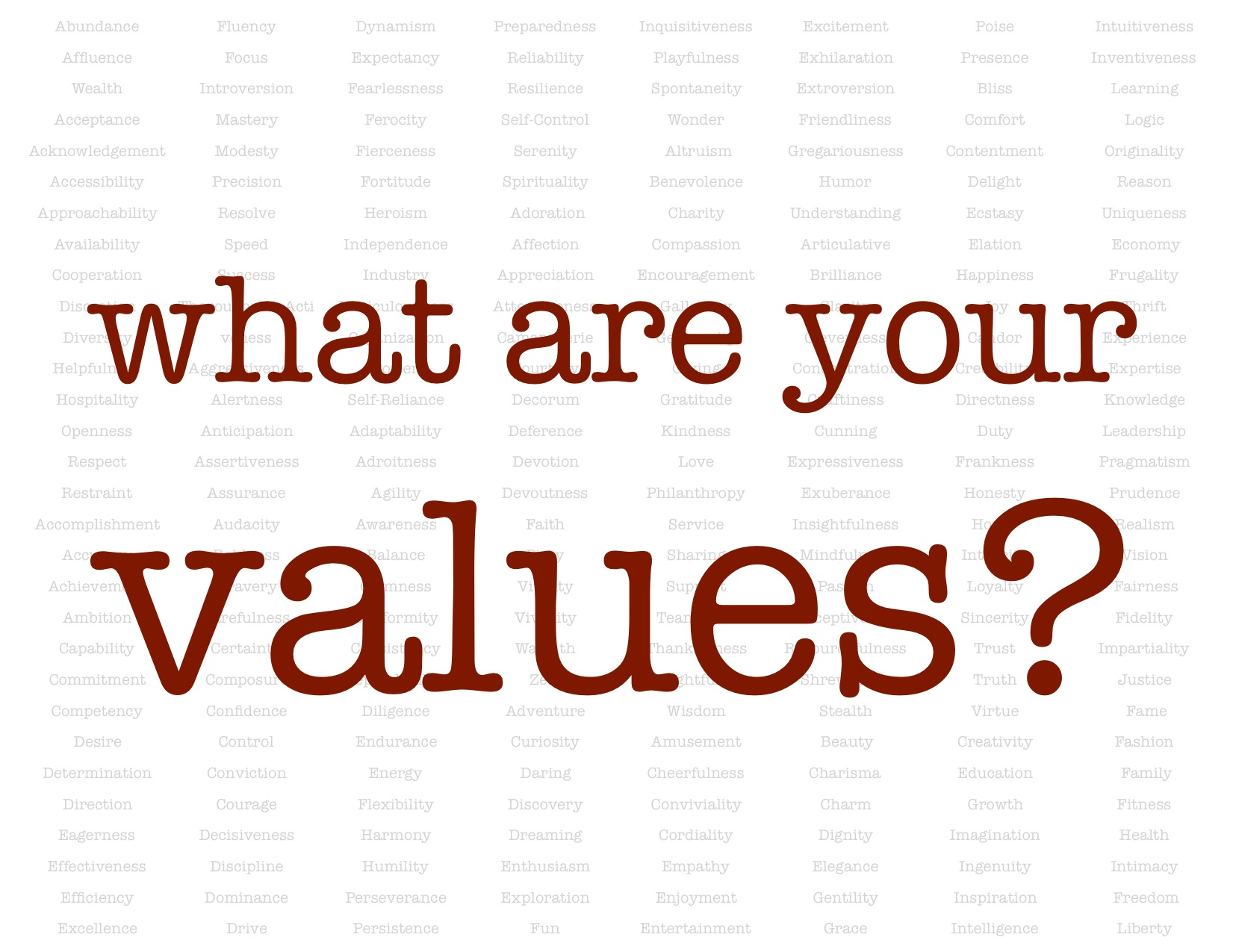 What Do You Value for Your Success?