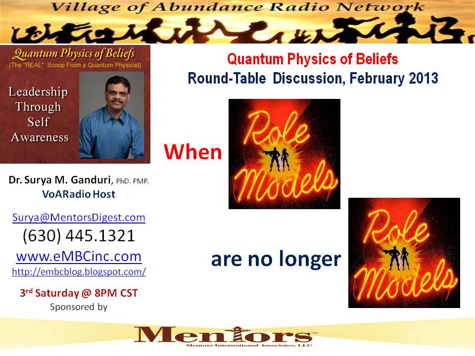 Feb 2013 - Role Models