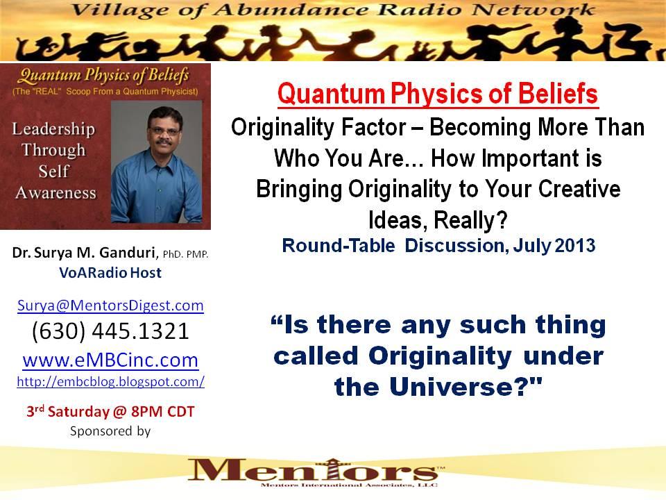 Jul 2013 - Originality
