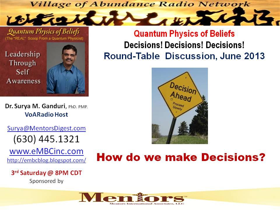 Jun 2013 - Decisions
