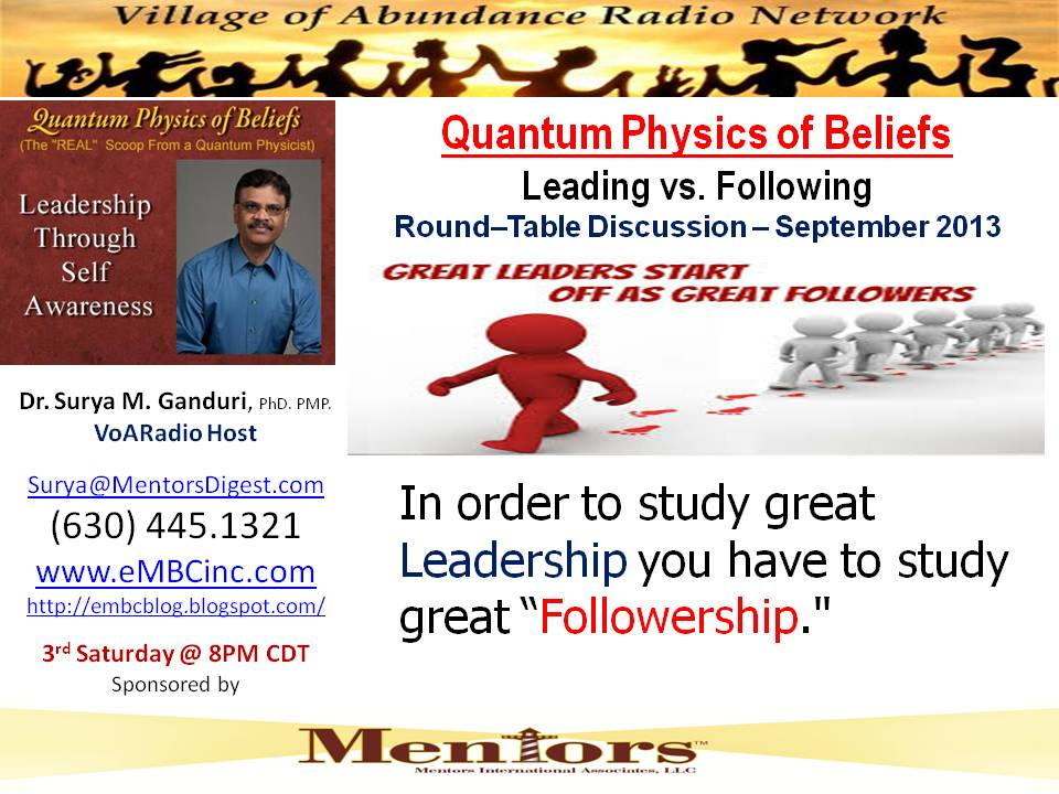 Sep 2013 - Followership